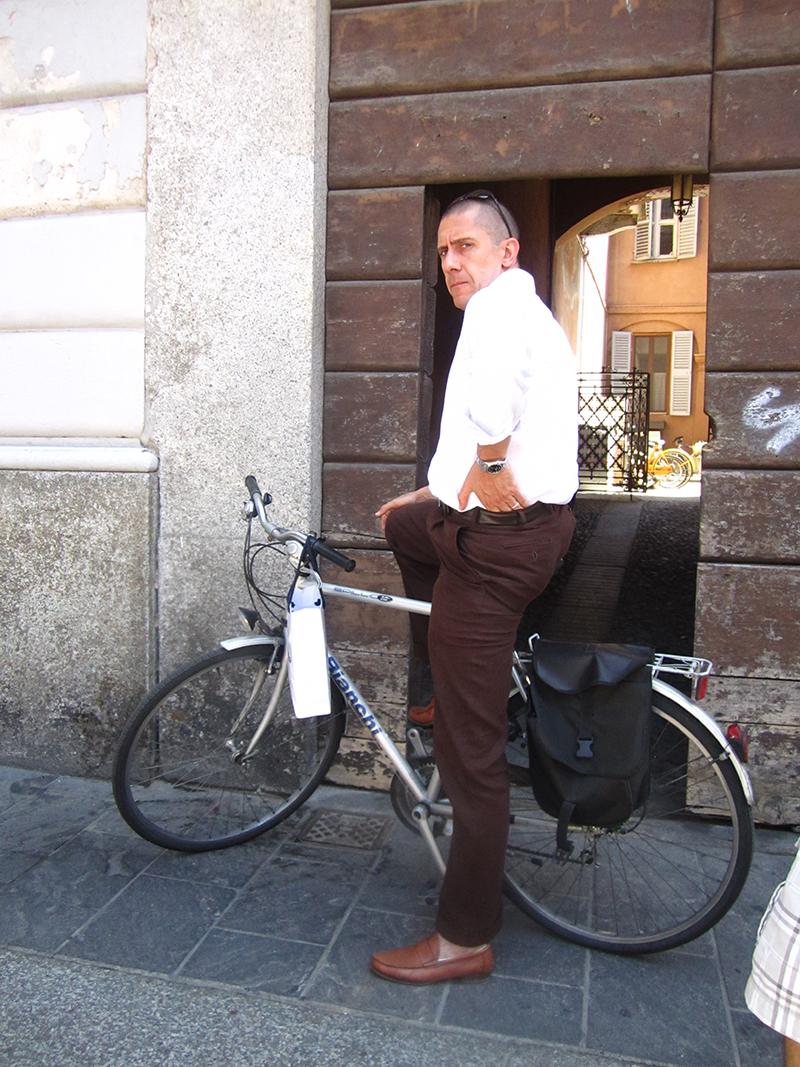 man-bicycle